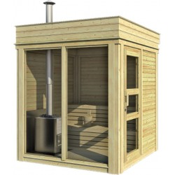 Outdoorsauna Cube 3