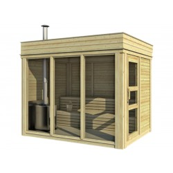 Outdoorsauna CUBE4YOU-203